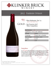 2014 Klinker Brick Farrah Syrah Sell Sheet