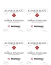 2015 Klinker Brick Marisa Vineyard Shelf Talker