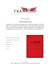2015 Tranzind Red Blend Tech Sheet